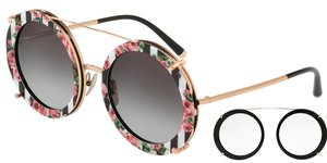 DG2198-12988G PINK GOLD/BLACK PRINT ROSE