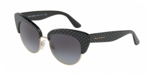 Dolce & Gabbana DG4277 31268G POIS WHITE ON BLACK