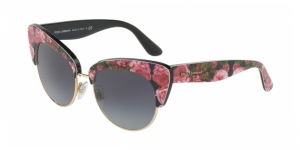Dolce & Gabbana DG4277 31278G PRINT ROSE ON BLACK