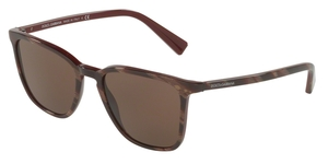 Dolce & Gabbana DG4301 309313 STRIPED RED ON BORDEAUX