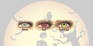 HALLOWEEN LENS Trimestrales White Eyes 2pk
