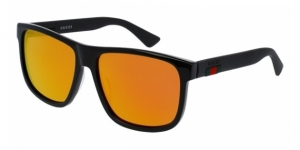 GG0010S 002 BLACK / ORANGE