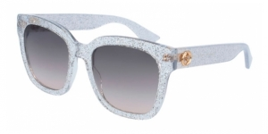 GG0034S-005 TRANSPARENT (GLITTER) / GREY GRADIENT