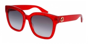 GG0034S-006 RED (GLITTER) / GREY GRADIENT