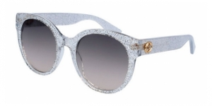 GG0035S-007 TRANSPARENT (GLITTER) / GREY GRADIENT