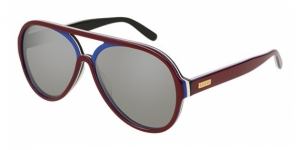 GG0270S 004 SHINY MULTILAYER BURGUNDY-BLUE-WHIT