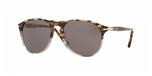 PO9649S 1130B1 HAVANA BROWN BEIGE/SMOKE