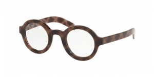 PRADA Conceptual PR 01XV 5201O1 SPOTTED DARK BROWN