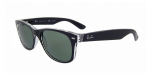 New Wayfarer RB2132 605258 TOP BLACK ON TRASPARENT