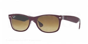 New Wayfarer RB2132-605485 TOP MATTE BORDEAUX ON TRANSPARENT
