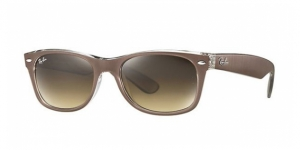 RAY-BAN New Wayfarer RB2132 614585 TOP BRUSHED BROWN ON TRASP