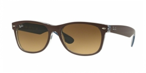 New Wayfarer RB2132 618985 TOP MT CHOCOLATE ON BLUE