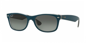 New Wayfarer RB2132 619171 TOP MT PETROLEUM ON GREY