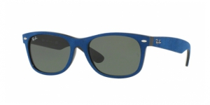New Wayfarer RB2132-6239 BLACK/TOP BLUE ALCANTARA