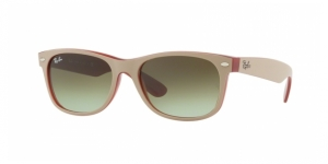 New Wayfarer RB2132-6307A6 MATTE BEIGE ON OPAL RED