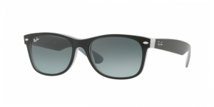 New Wayfarer RB2132-630971 MATTE BLACK ON OPAL ICE