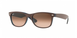 New Wayfarer RB2132-6310A5 MATTE CHOCCOLAT ON OPAL YELLOW