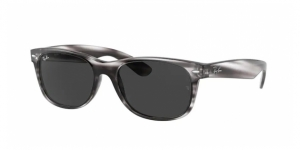 New Wayfarer RB2132 6430B1 STRIPED GREY HAVANA