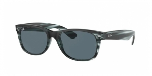 New Wayfarer RB2132 6432R5 STRIPED BLUE HAVANA