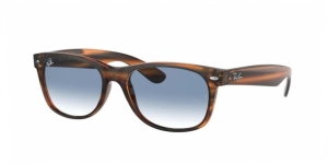 New Wayfarer RB2132 820/3F STRIPED RED HAVANA