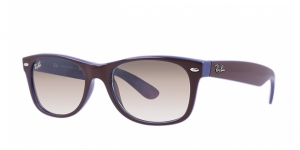 New Wayfarer RB2132-874/51 TOP BROWN ON BLUE CRYSTAL BROWN GRADIENT