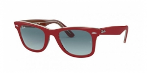 Original Wayfarer RB2140 12963M RED ON TRASPARENT GREY