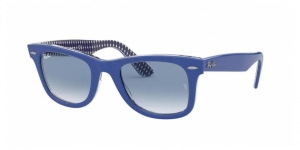 Original Wayfarer RB2140 13193F BLUE ON VICHY BLUE/WHITE