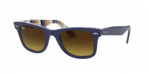 Original Wayfarer RB2140 132085 BLUE ON STRIPES ORANGE/BLUE