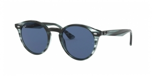 RB2180 643280 STRIPPED BLUE HAVANA