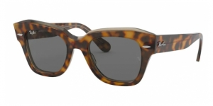 RAY-BAN State Street RB2186 1292B1 HAVANA ON TRASPARENT LIGHT BRO