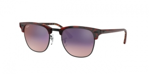 Clubmaster RB3016 12753B TOP TRASP RED ON HAVANA ORANGE