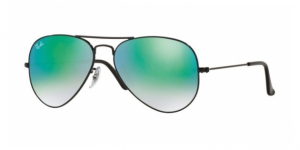 Aviator Large Metal RB3025 002/4J SHINY BLACK