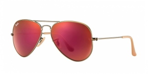 Aviator Large Metal RB3025-167/2K BRUSHED BRONZE RED MIRROR