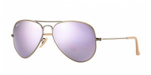 Aviator Large Metal RB3025-167/4K BRUSHED BRONZE LILAC MIRROR