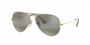 Aviator Large Metal RB3025 9154AH GOLD ON TOP MATTE GREY