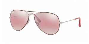 Aviator Large Metal RB3025 9155AI SILVER ON TOP MATTE BORDEAUX