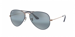 Aviator Large Metal RB3025 9156AJ COPPER ON MATTE DARK BLUE