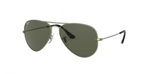 Aviator Large Metal RB3025 919131 SAND TRASPARENT GREEN