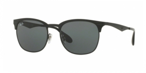 313f2322ff RB3538 186 71TOP MATTE BLACK ON SHINY BLKRAY-BAN