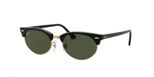 RAY-BAN Clubmaster Oval RB3946 130331 SHINY BLACK