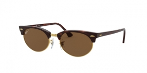 RAY-BAN Clubmaster Oval RB3946 130457 MOCK TORTOISE