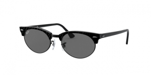 RAY-BAN Clubmaster Oval RB3946 1305B1 TOP WRINKLED BLACK ON BLACK