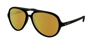 Cats 5000 RB4125 601S/93 MATTE BLACK BROWN MIRROR GOLD
