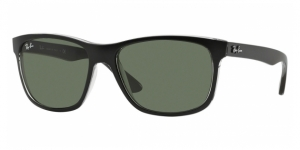 RB4181 6130 TOP MATTE BLACK ON TRASP GREY CRYSTAL GREEN