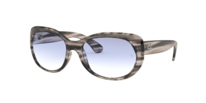 RB4325 643019 STRIPPED GREY HAVANA