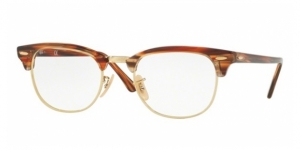 Clubmaster RX5154-5751 BROWN/BEIGE STRIPPED