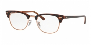 Clubmaster RX5154 5884 TOP HAVANA ON BROWN