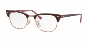 Clubmaster RX5154 5886 TOP BROWN ON OPAL PINK