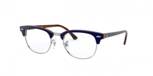 Clubmaster RX5154 5910 TOP BLUE ON HAVANA RED