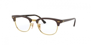 Clubmaster RX5154 5969 TOP BROWN ON HAVANA YELLOW
